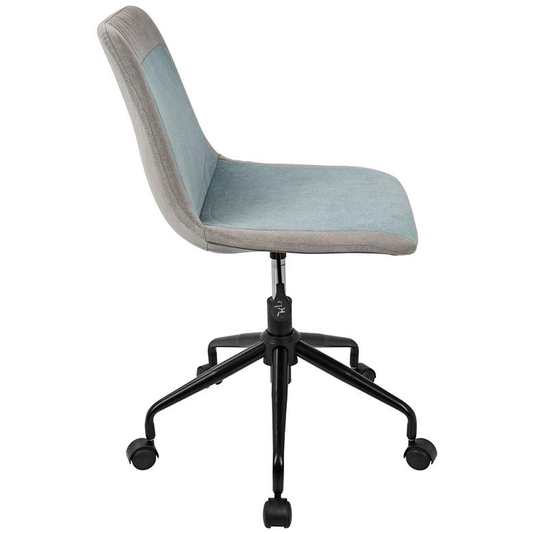 Orzo Gray and Blue Denim Adjustable Task Chair more views