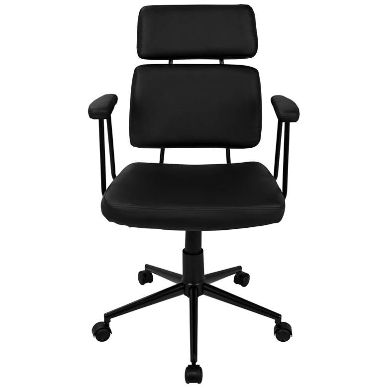 Sigmund Black Faux Leather Adjustable Office Chair more views