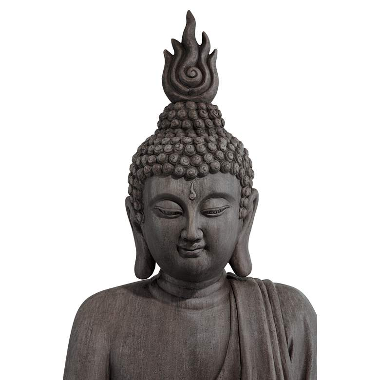 "Sitting Buddha 42"" High Gray Ceramic Indoor-Outdoor Statue more views"