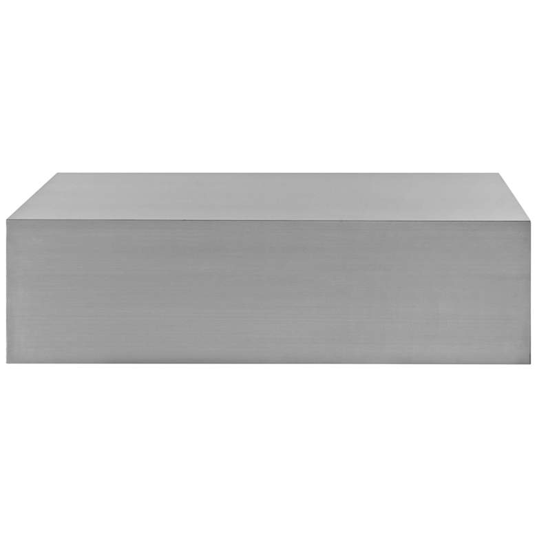 "Silver Stainless Steel 54 1/2"" Rectangular Coffee Table more views"