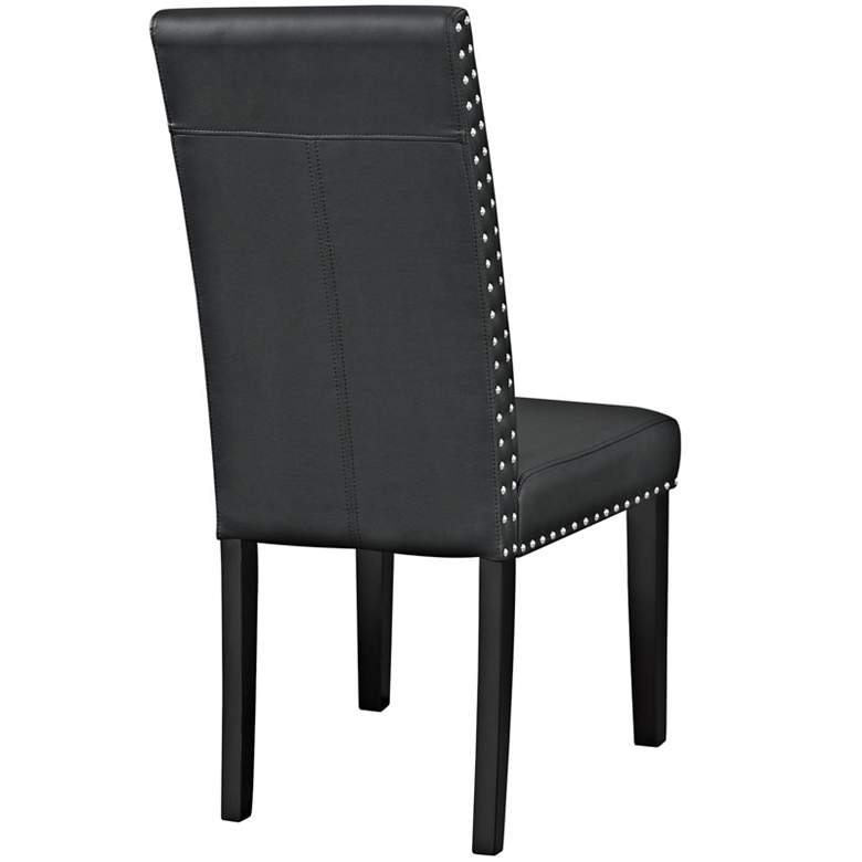 Parcel Black Faux Leather Dining Side Chair more views