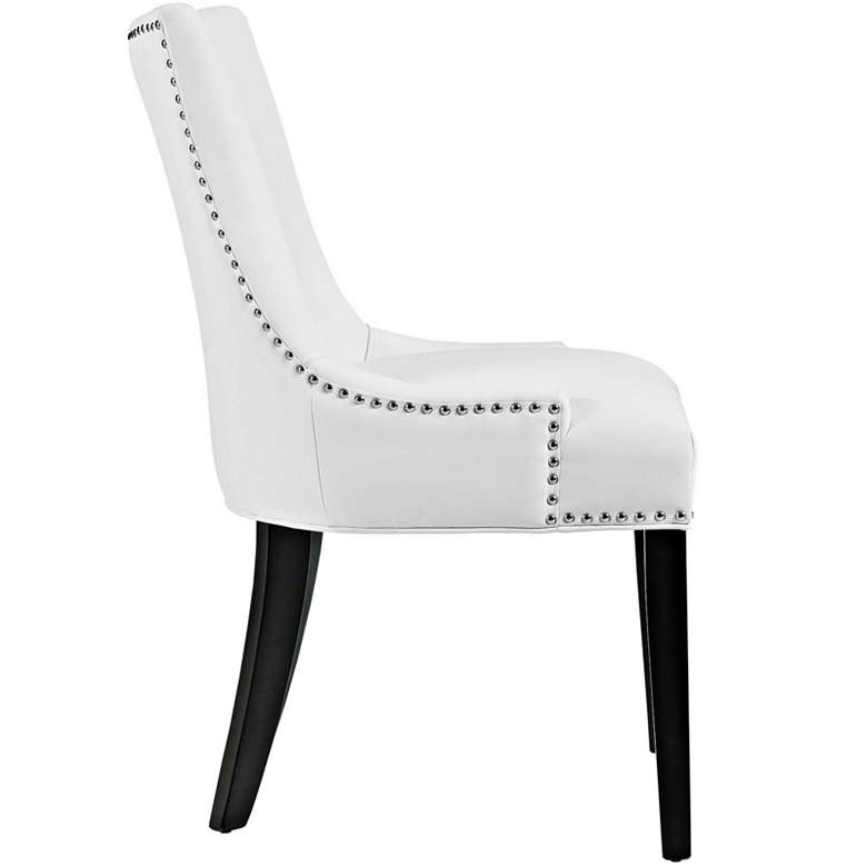 Marquis White Faux Leather Dining Chair more views