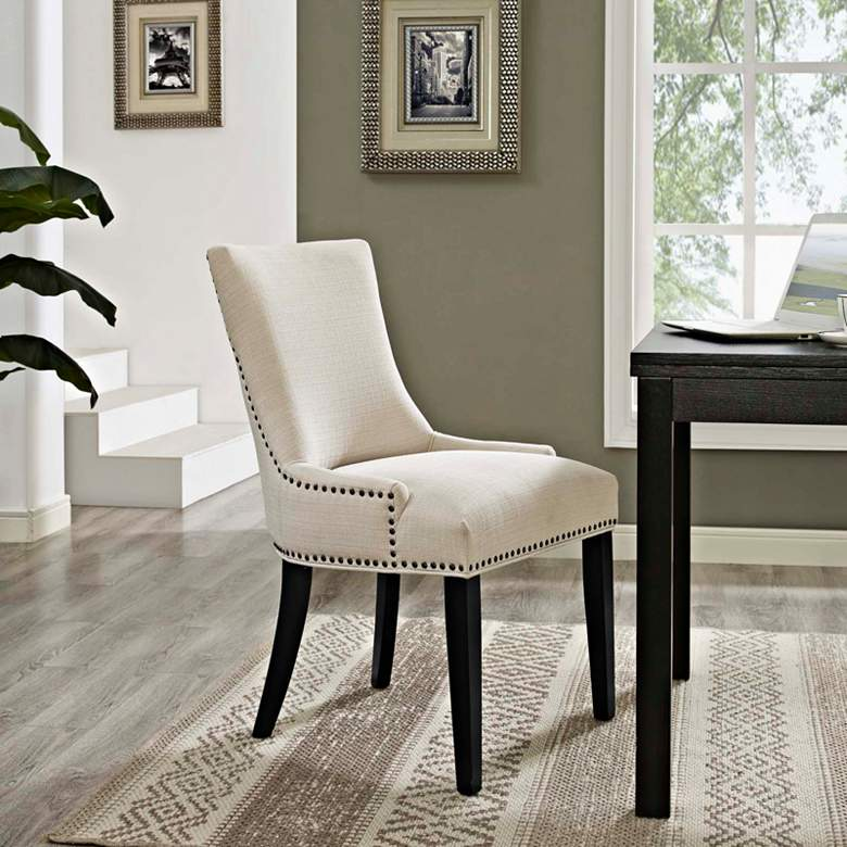 Marquis Beige Fabric Dining Chair more views