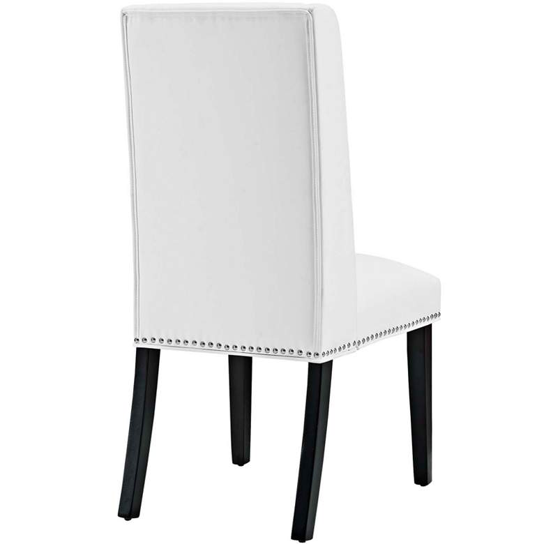 Baron White Vinyl and Silver Nailhead Trim Dining Chair more views