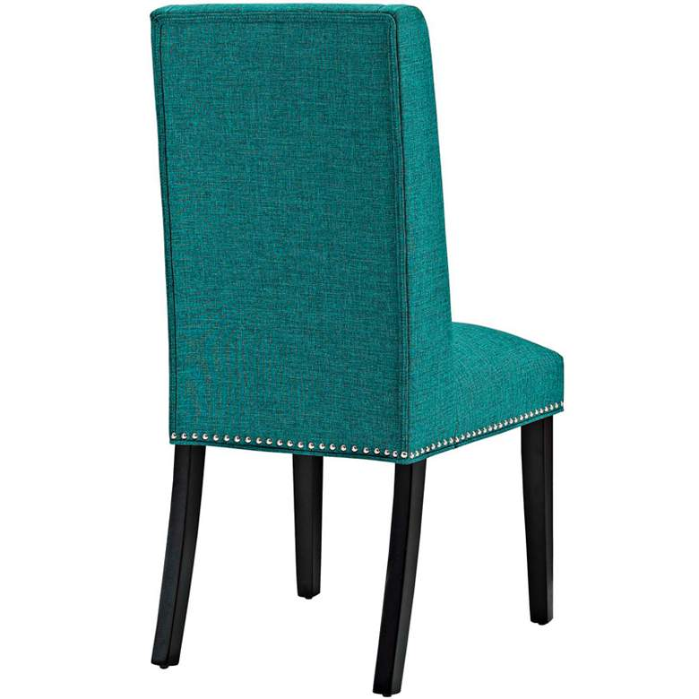 Baron Teal Fabric Dining Chair more views