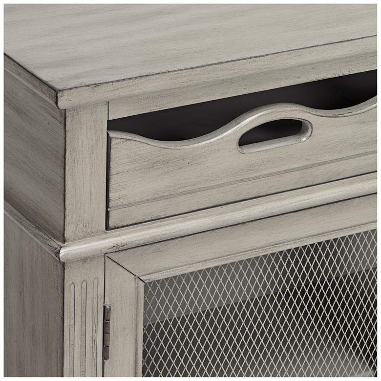 "Mansfield 39 3/4"" Wide Antique Taupe 2-Door Storage Cabinet more views"