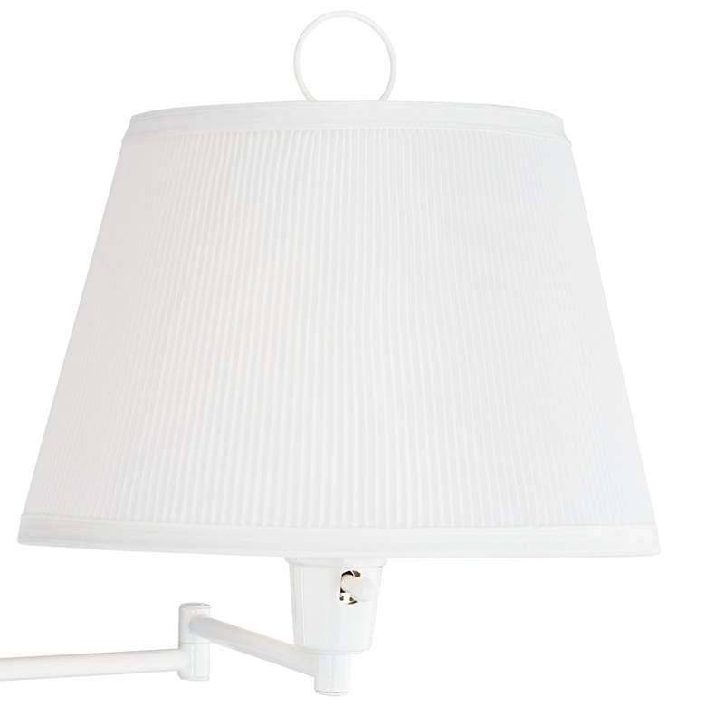 Amelie White Swing Arm Plug-in Wall Lamp by Barnes and Ivy more views