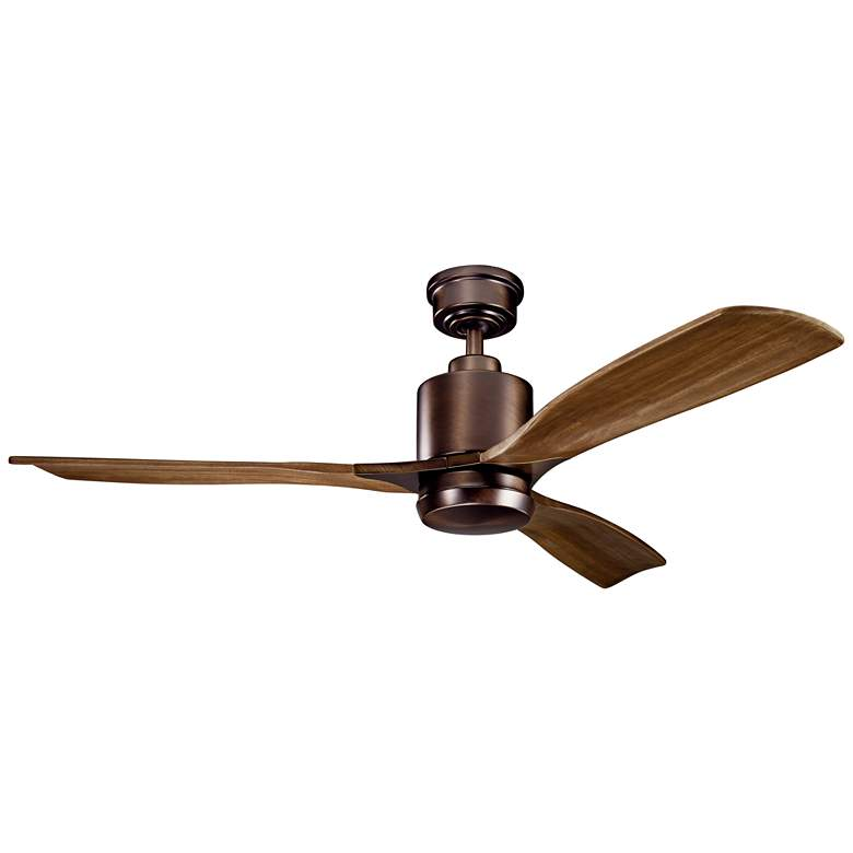 "52"" Kichler Ridley II Oil Brushed Bronze LED Ceiling Fan more views"