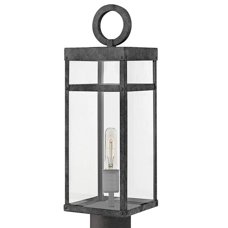 "Hinkley Porter 22 3/4"" High Aged Zinc Outdoor Post Light more views"