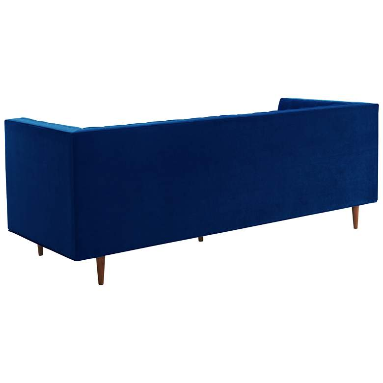 "Sebastian 88 1/2"" Wide Navy Velvet Tufted Sofa more views"