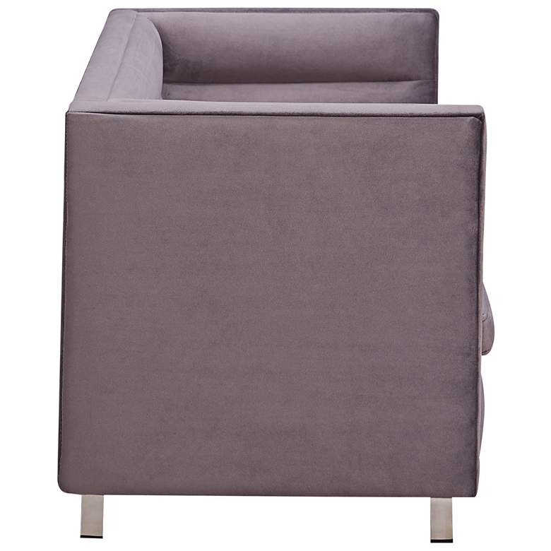 Beagle Gray Velvet Pet Sofa Bed more views