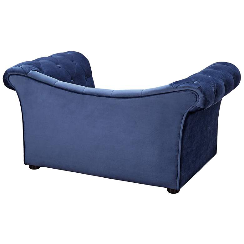 Dachshund Navy Blue Velvet Pet Bed more views