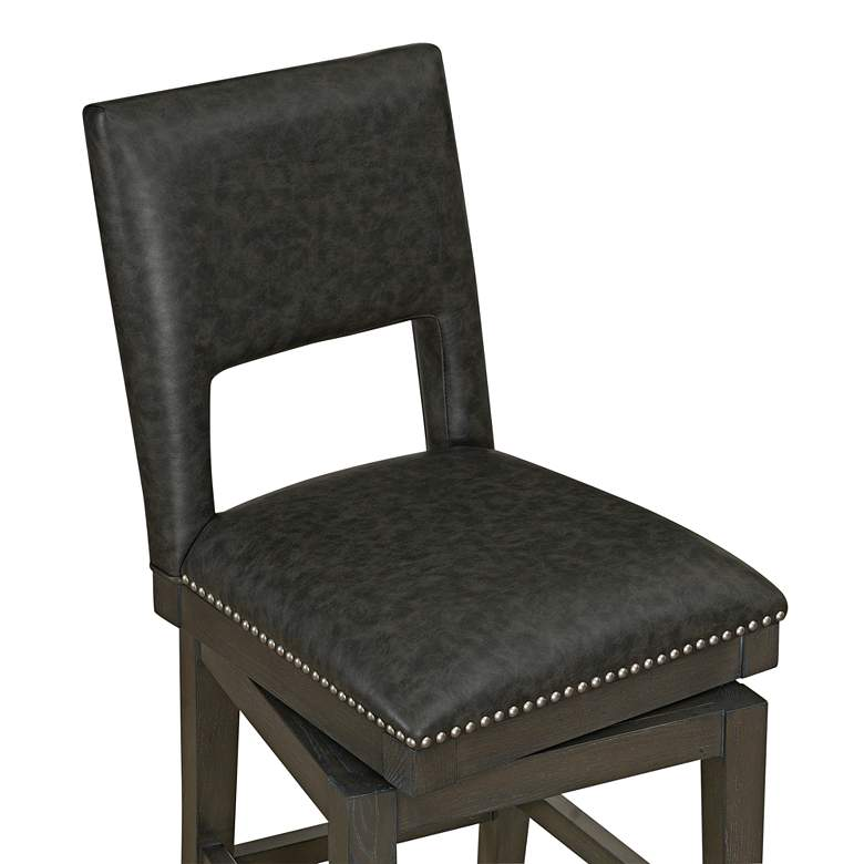 "Tristan 30"" Cadet Bonded Leather Swivel Barstool more views"