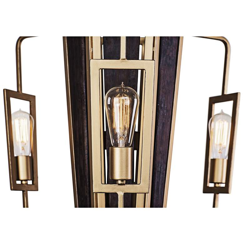 "Varaluz Madeira 22"" Wide Rustic Gold 3-LED Chandelier more views"