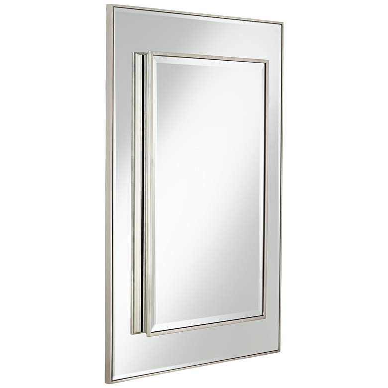 "Lane Silver Stacked Dimensional Center 30"" x 40"" Mirror more views"