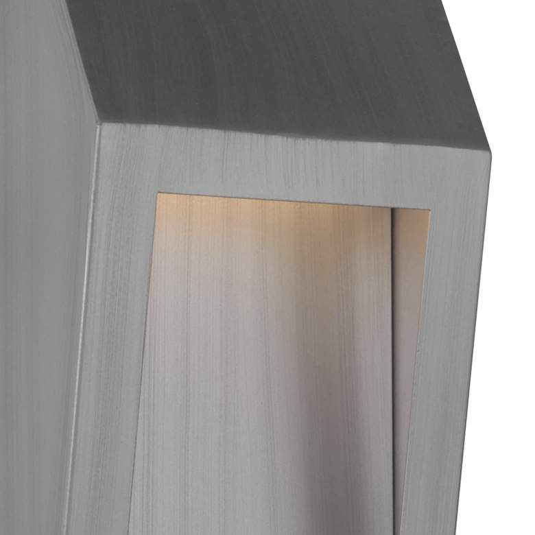 "Wedge 17 3/4""H Brushed Aluminum LED Outdoor Wall Light more views"