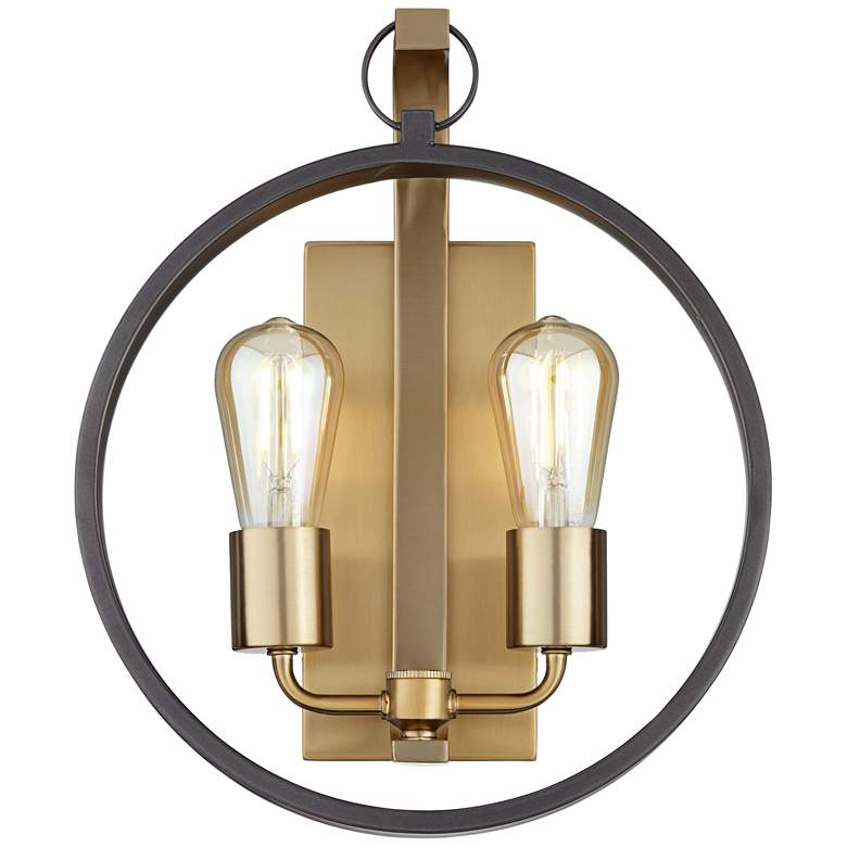 "34X57 - 14.5""H Brushed Champagne Wall Sconce more views"