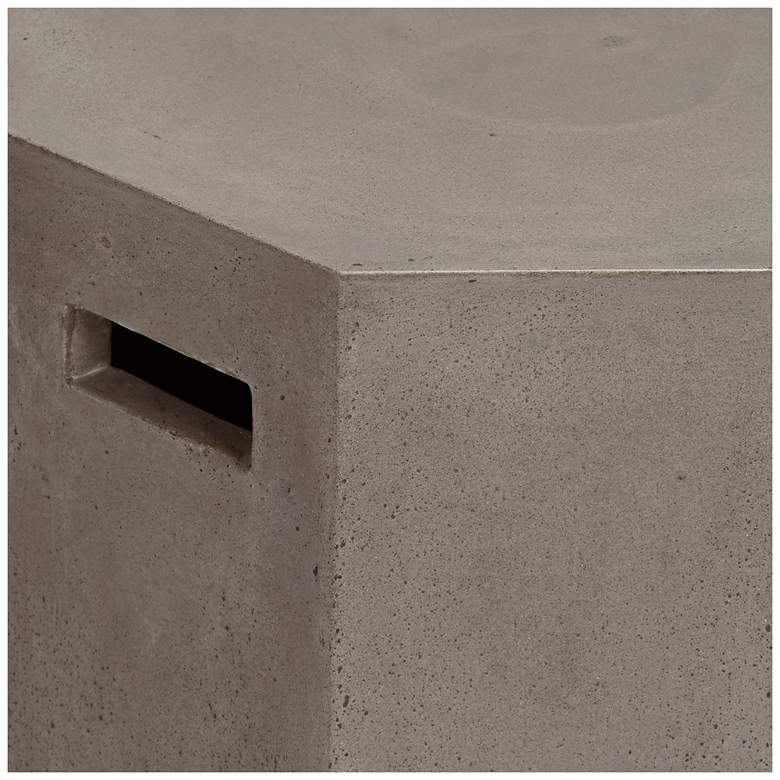 "Ollo 18"" High Gray Concrete End Table more views"