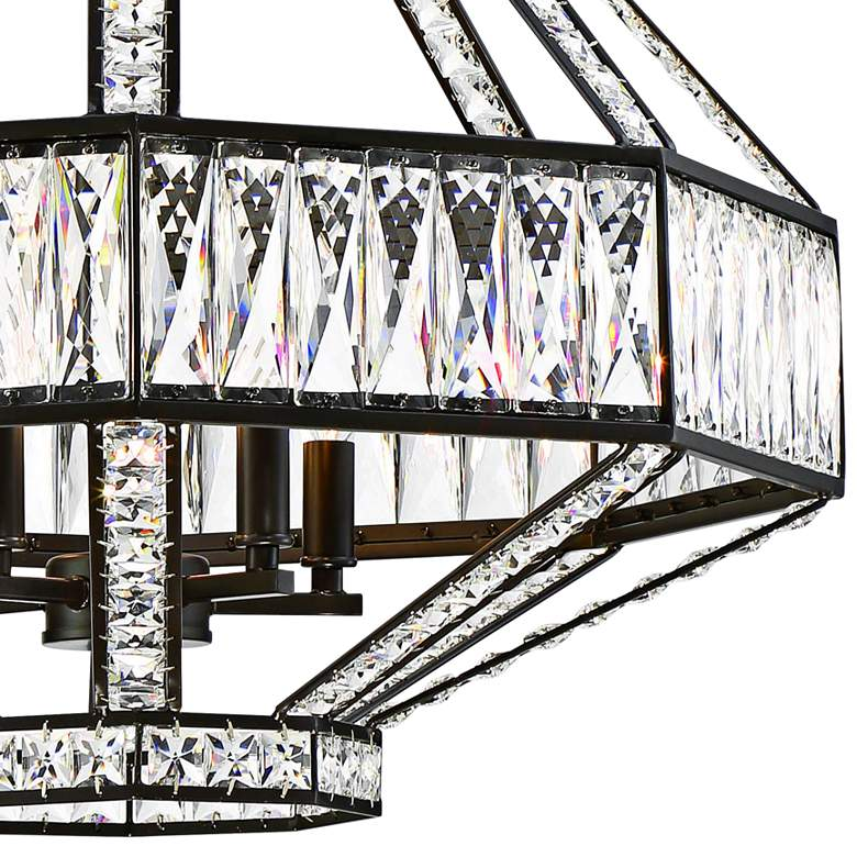 "Eurofase Bellezza 23 3/4""W Bronze 5-Light Crystal Pendant more views"