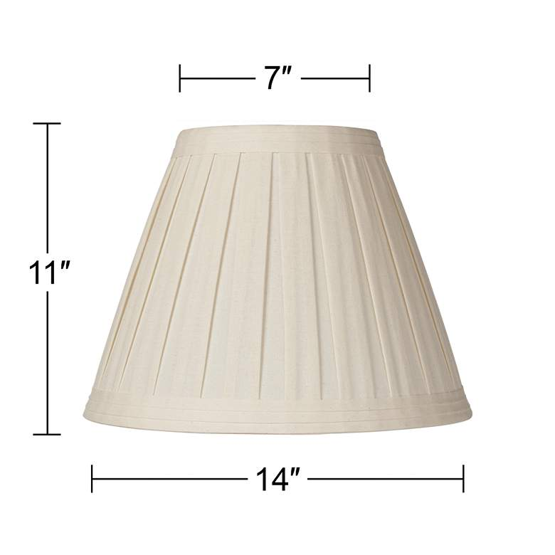 Creme Linen Box Pleat Lamp Shade 7x14x11 (Spider) more views