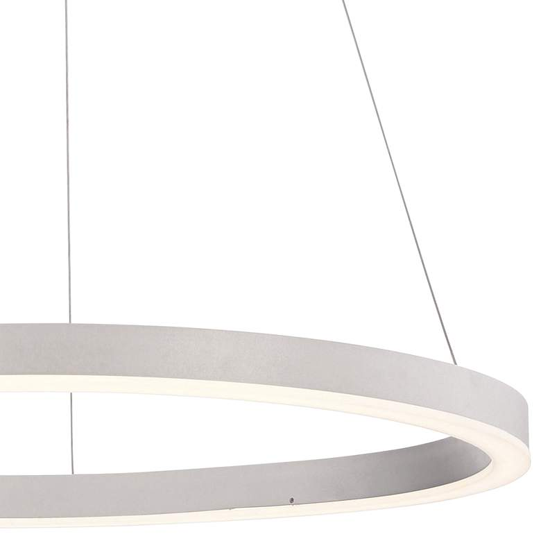 "Eurofase Spunto 27 1/2"" Wide Silver LED Ring Pendant Light more views"