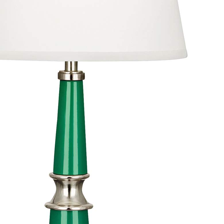 Versailles Emerald Green White Shade Buffet Table Lamp  more views