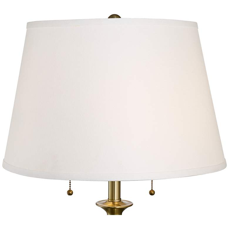 Spenser Brushed Antique Brass Floor Lamp more views