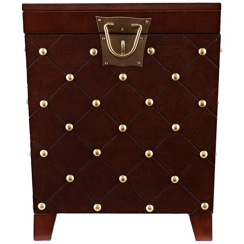 "Anastasia 21 1/4"" Wide Espresso Wood Trunk End Table more views"