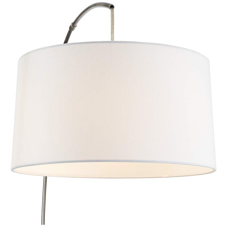 Cora Brushed Nickel Arc Floor Lamp more views