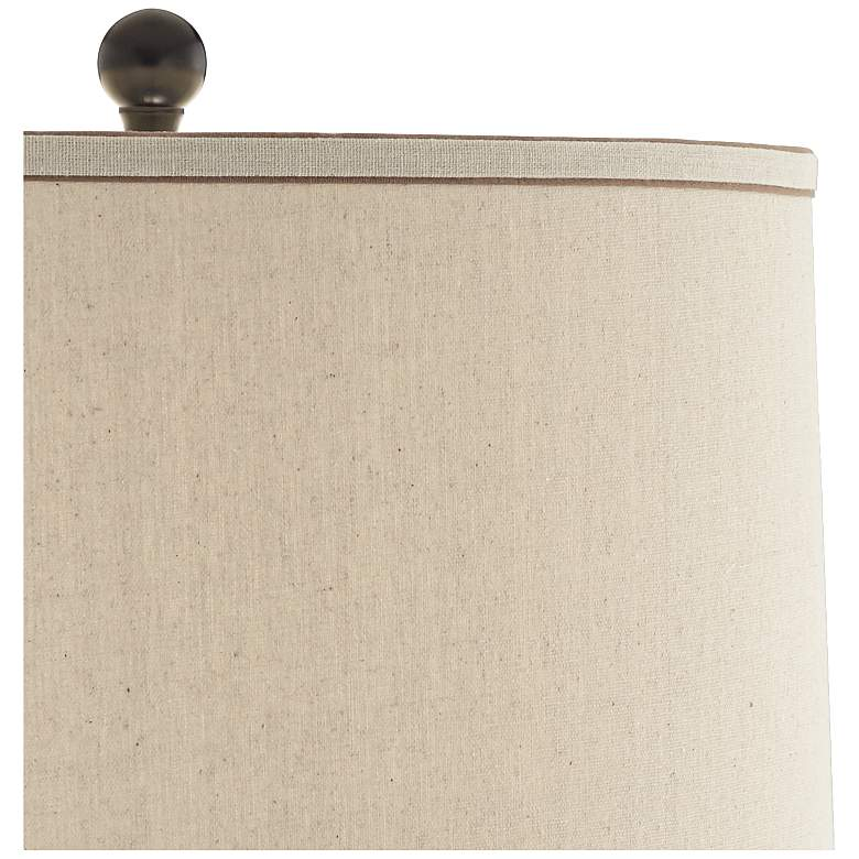 Teresa Copper Brown Modern Ceramic Table Lamp more views