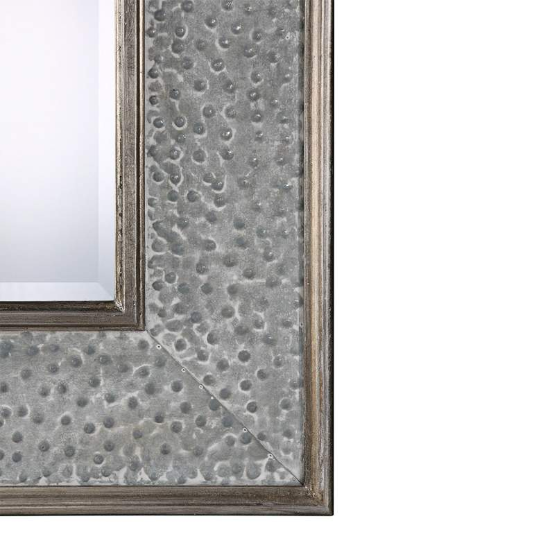 "Draven Taupe Gray Wash 40"" x 52"" Oversized Wall Mirror more views"
