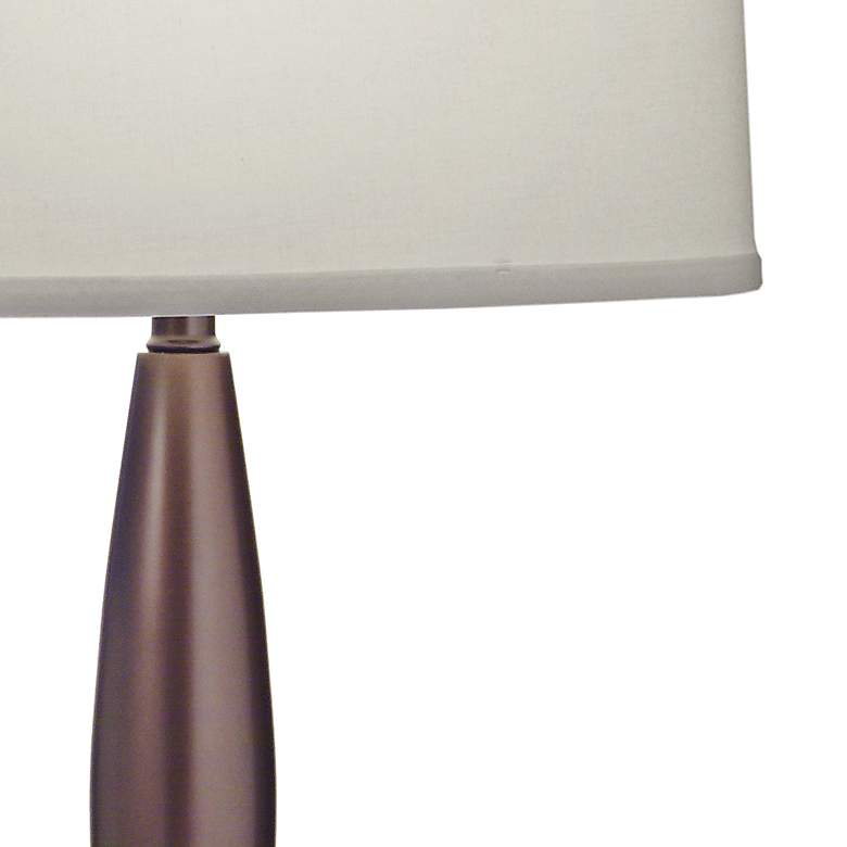 Eliza Nickel and Bronze Table Lamp with USB Port and Outlet more views