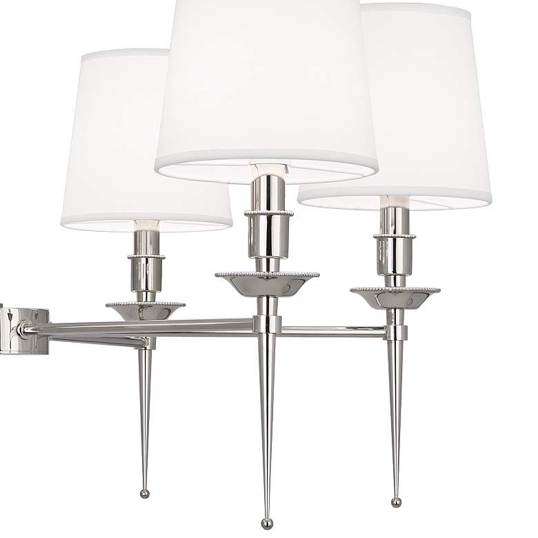 "Cedric 34 1/4"" Wide Polished Nickel 6-Light Chandelier more views"