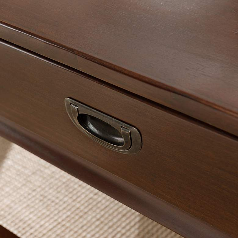 "Stratus 46"" Wide Heartwood Cherry 2-Drawer Wood Coffee Table more views"