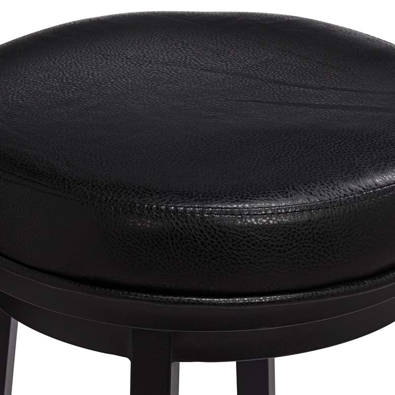 "Madrid 30 1/2"" Ford Black Faux Leather Swivel Bar Stool more views"