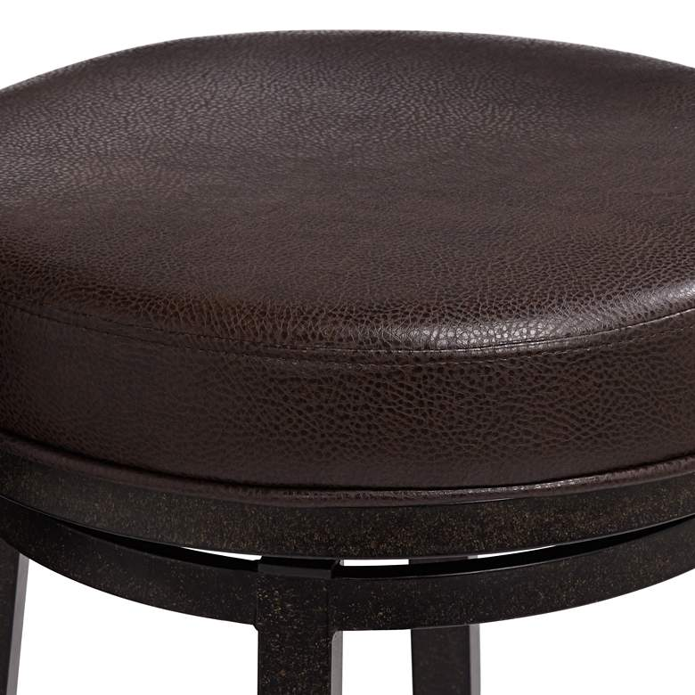 "Madrid 30"" Ford Brown Faux Leather Swivel Bar Stool more views"