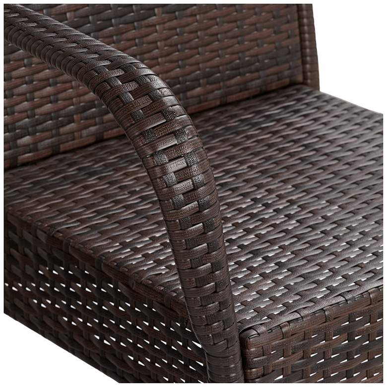 "Sorrento 30 1/2"" Brown Wicker Outdoor Bar Stools Set of 2 more views"