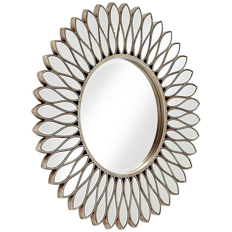 "Helios Warm Silver 36"" Sunburst Wall Mirror more views"