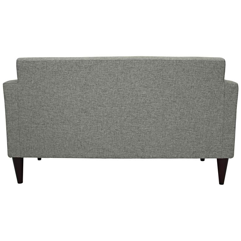 "Netto 56 1/4"" Wide Light Gray Woven Tufted Settee Sofa more views"