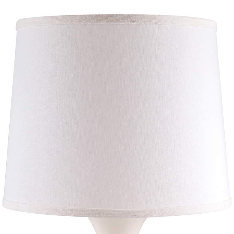 Hewitt White Gloss Jar Ceramic Accent Table Lamp more views