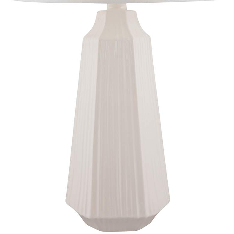 Melinda White Faceted Ceramic Table Lamp more views
