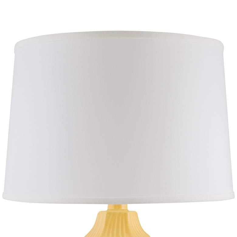Melinda Straw Yellow Faceted Ceramic Table Lamp more views