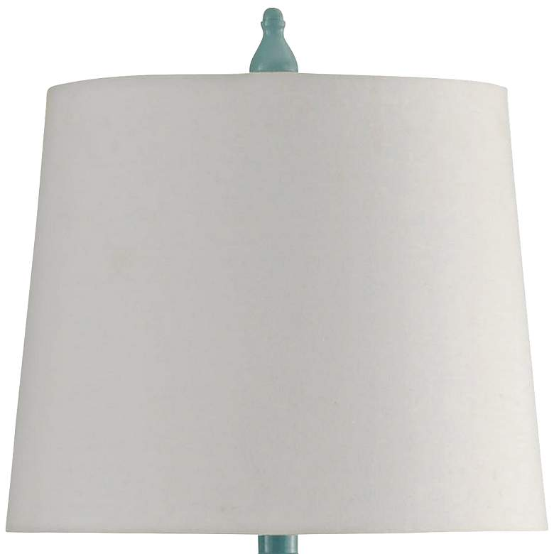 Vega Blue Table Lamp with Hardback Shade more views