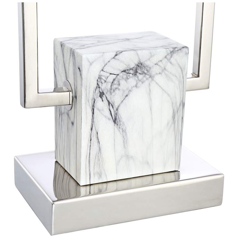Carl Metal and Faux Marble Table Lamp more views