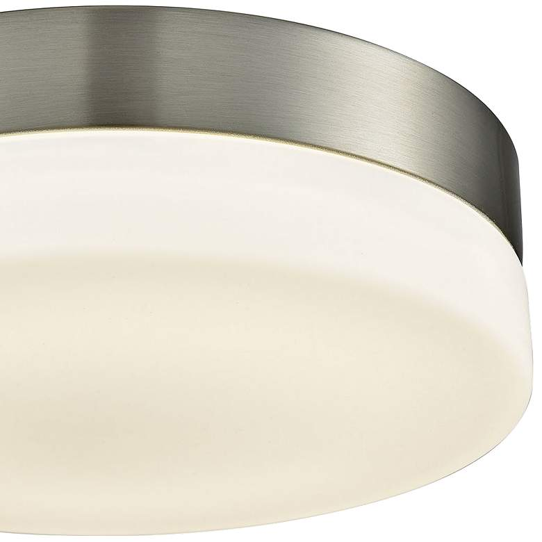 "Holmby 9"" Wide Satin Nickel Round LED Ceiling Light more views"