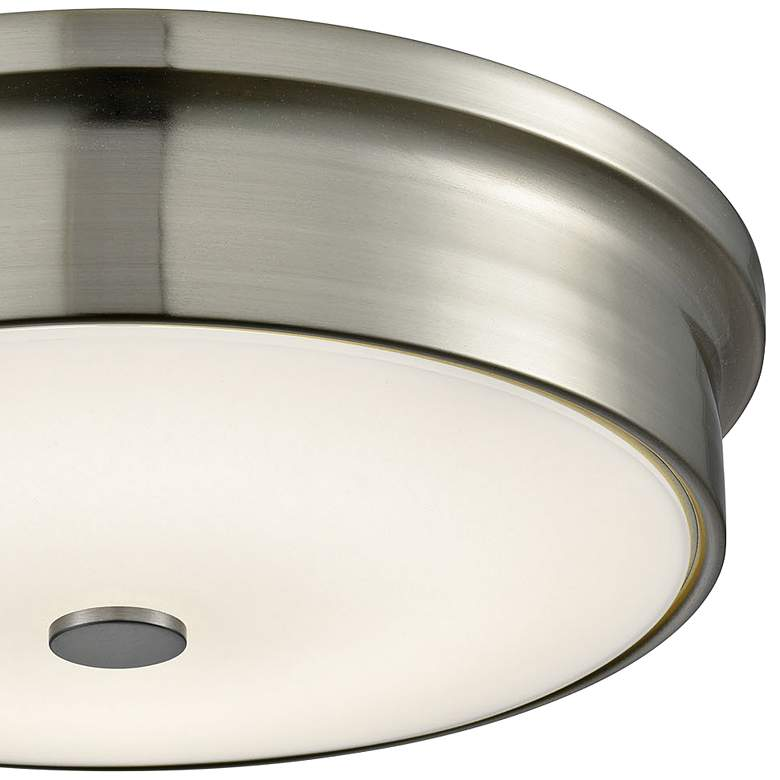 "Towne 12"" Wide Satin Nickel Round LED Ceiling Light more views"