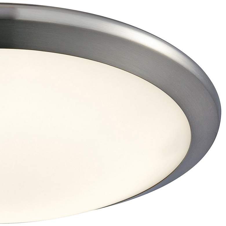 "Clancy 12"" Wide Chrome Round LED Ceiling Light more views"
