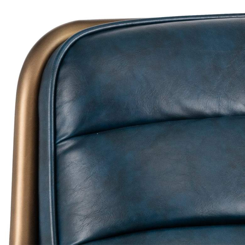 Lincoln Vintage Blue Faux Leather Lounge Chair more views