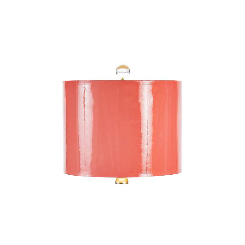 Couture Meg Caswell Sheridan Coral Lacquer Table Lamp more views