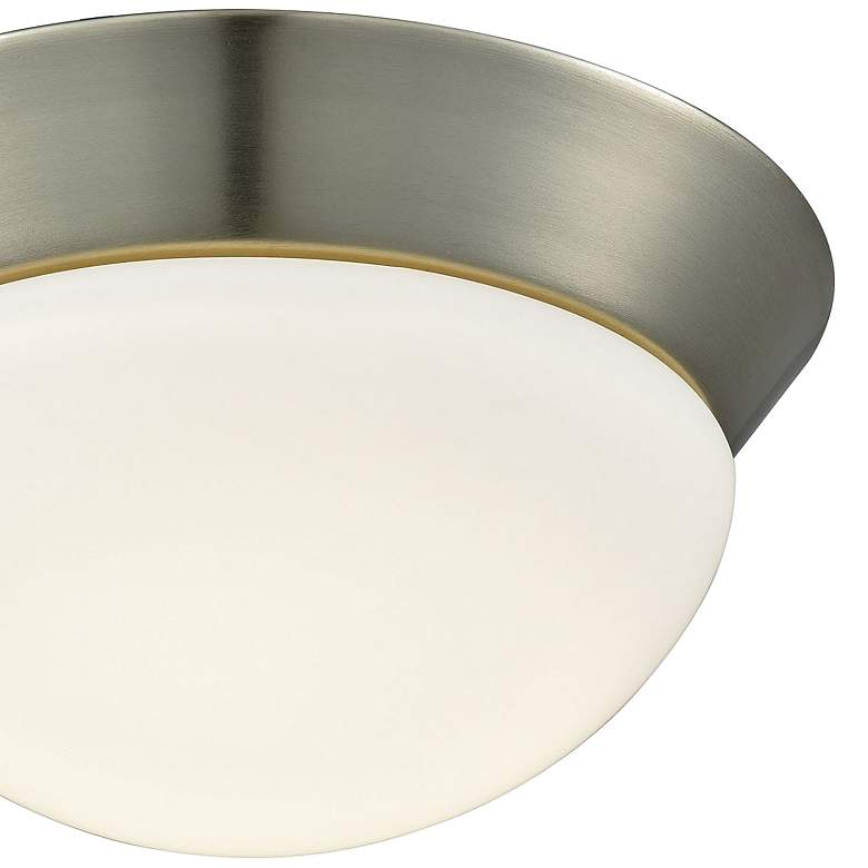 "Contours 8"" Wide Satin Nickel LED Ceiling Light more views"
